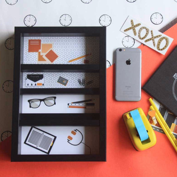Desk Organizer - Stationery - Orange-Stationery-PropShop24.com