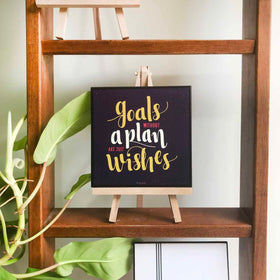 Art Frame - Goals Without A Plan Are Just Wishes-HOME ACCESSORIES-PropShop24.com