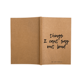 Notebook - Cant Say Loud- Blank Pages-Stationery-PropShop24.com