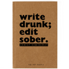 Write Drunk Notebook- Blank Pages-NOTEBOOKS + JOURNALS-PropShop24.com