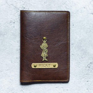 Personalized - Passport Cover With Charms - Dark Brown - C.O.D Not Available-TRAVEL ESSENTIALS-PropShop24.com