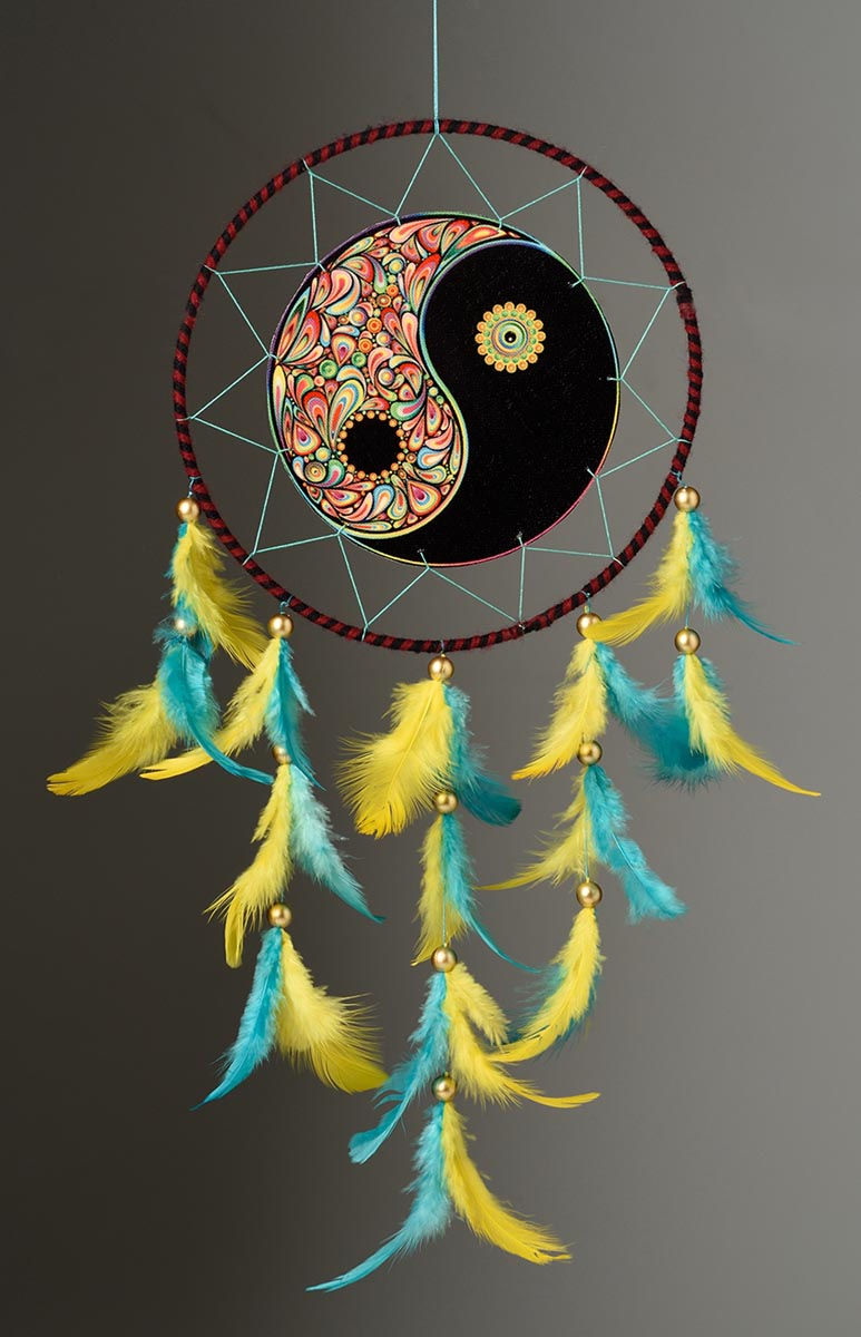 Dreamcatcher - Canvas Yin Yang-HOME ACCESSORIES-PropShop24.com