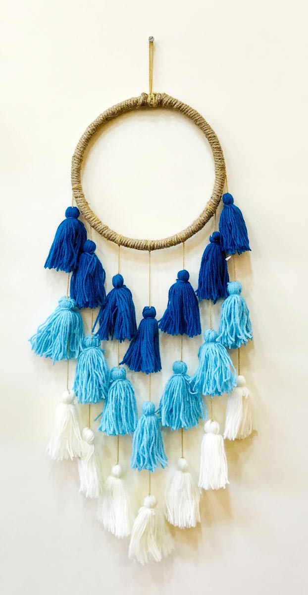 Blue Tassels Dreamcatcher Inspired Decor-HOME ACCESSORIES-PropShop24.com