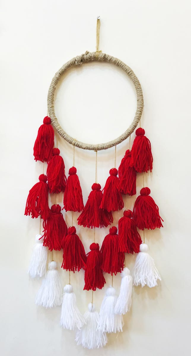 Red Tassels Dreamcatcher Inspired Decor-HOME ACCESSORIES-PropShop24.com