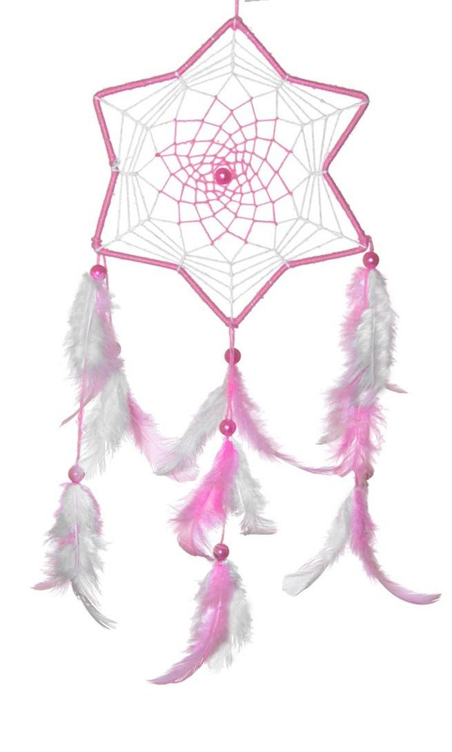 Dreamcatcher - Princess Pink And White - Medium-HOME ACCESSORIES-PropShop24.com