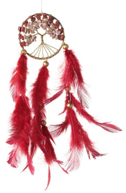 Dreamcatcher - Maroon Healing Tree Car Hanging-HOME-PropShop24.com