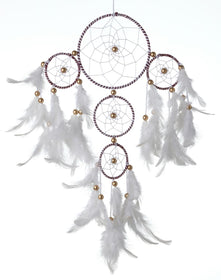 Dreamcatcher - White And Brown 4 Tier-HOME ACCESSORIES-PropShop24.com