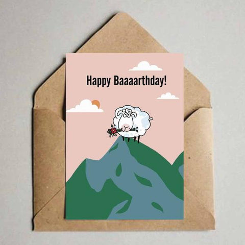 Greeting Card - Happy Baarthday - Goat-Stationery-PropShop24.com