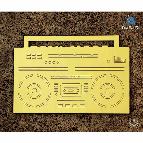 Bookmark - Boombox - Gold-Stationery-PropShop24.com