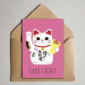 Greeting Card - Good Luck Cat-Stationery-PropShop24.com