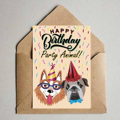 Greeting Card - Happy Birthday - Party Animal-Stationery-PropShop24.com