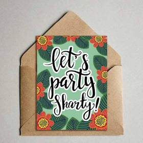 Greeting Card - Let's Party Sharty-Stationery-PropShop24.com