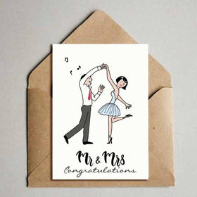greeting card - Congratulations - Mr & Mrs-Stationery-PropShop24.com