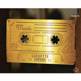 Bookmark - Music Cassette - Gold-Stationery-PropShop24.com