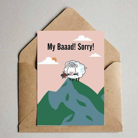Greeting card - My Baaad-Stationery-PropShop24.com