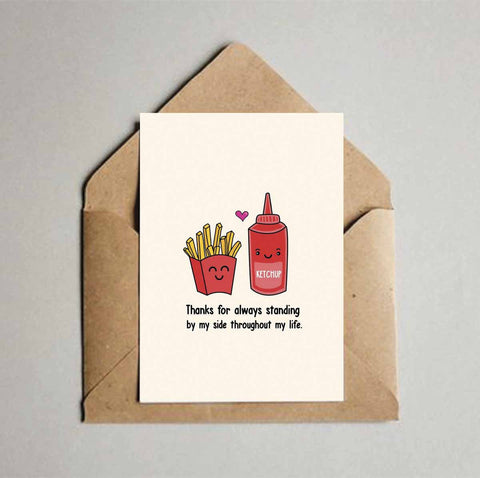 Greeting Card - Thanks for always standing by my side-Stationery-PropShop24.com
