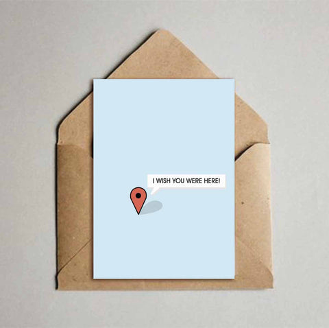 Greeting Card - Wish you were here-Stationery-PropShop24.com