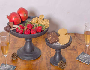 Black Big Cake Stand-DINING + KITCHEN-PropShop24.com
