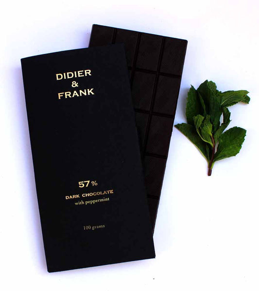57% Dark Chocolate With Peppermint - 100G - Didier & Frank-Food-PropShop24.com