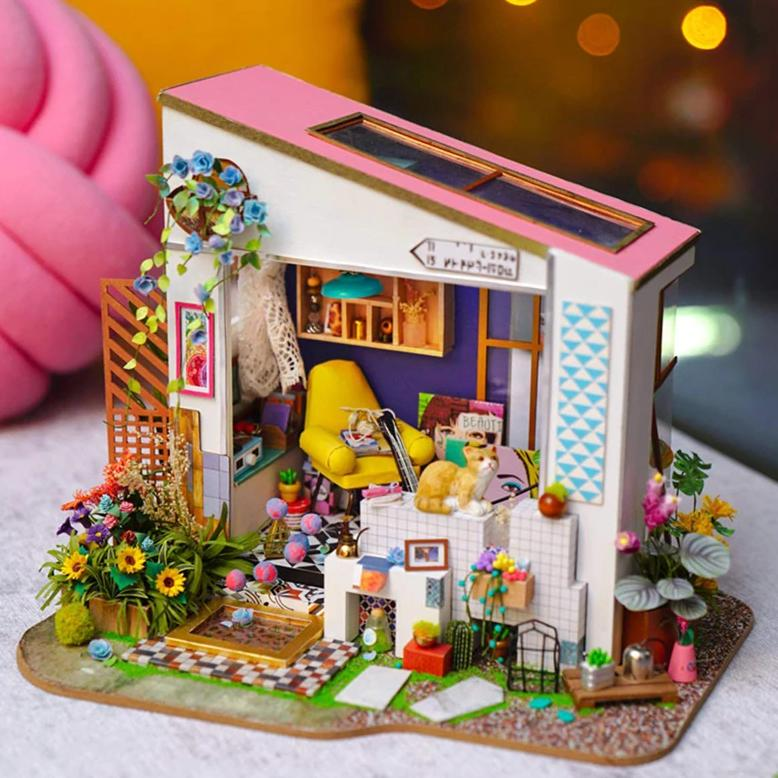 DIY - Miniature Dollhouse Kit - Lilys Porch-DESK ACCESSORIES-PropShop24.com