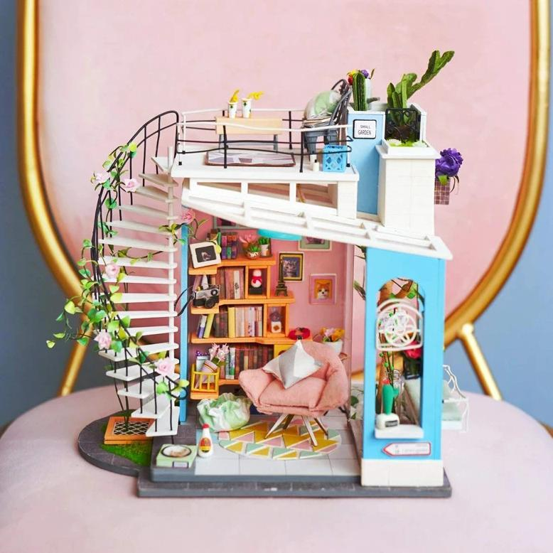 DIY - Miniature Dollhouse Kit - Doras Loft-DESK ACCESSORIES-PropShop24.com