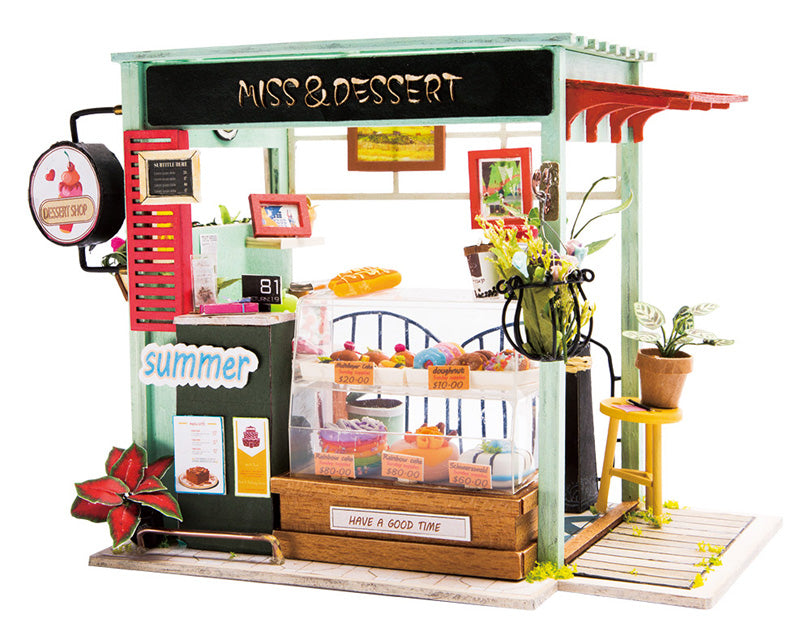 DIY - Miniature Dollhouse Kit - Ice Cream Station-DESK ACCESSORIES-PropShop24.com