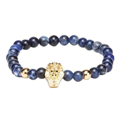 Bracelet - Blue & Black With Golden-Fashion-PropShop24.com
