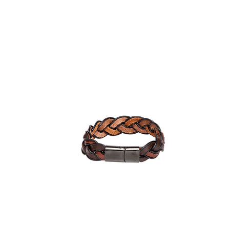 Bracelet - Braided - Brown-Fashion-PropShop24.com