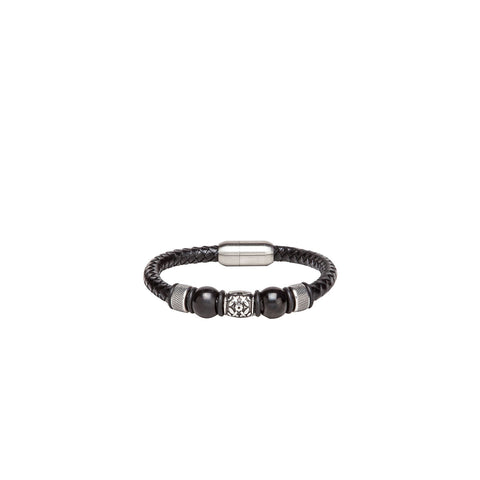 Bracelet - Beads - Black & Silver-Fashion-PropShop24.com
