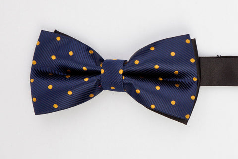BOWTIE - BLUE WITH YELLOW POLKA DOTS-Mens Week-PropShop24.com