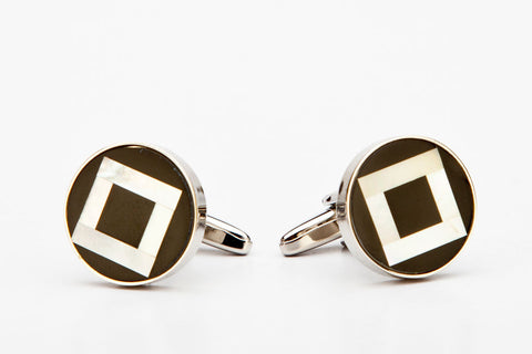 Cufflinks - SQUARE IN A CIRCLE-Mens Week-PropShop24.com