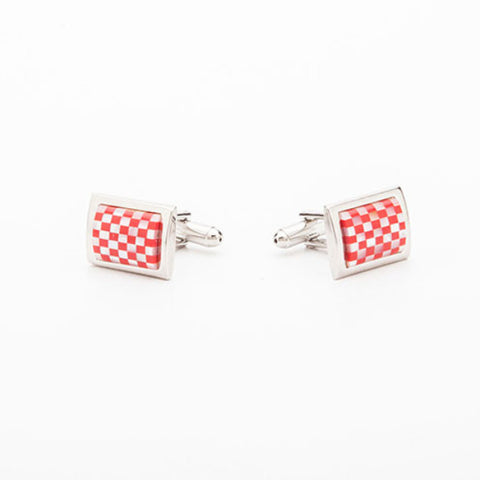 Cufflinks - RED CHECKS