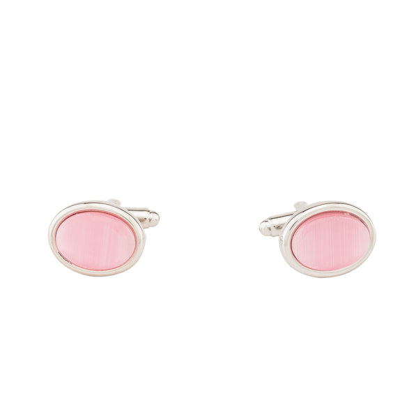 Cufflinks - Light Pink Stone Oval-Fashion-PropShop24.com