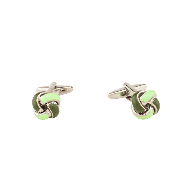 Cufflinks - Green Dark And Light Knot-Fashion-PropShop24.com