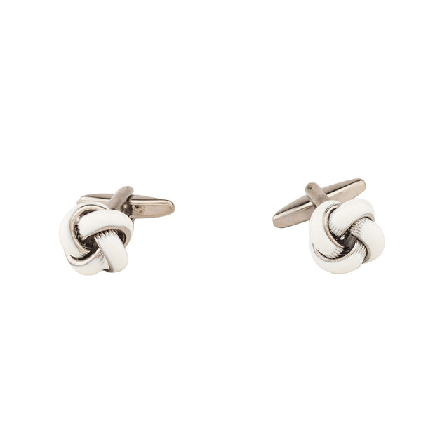 Cufflinks - White Knot-Fashion-PropShop24.com