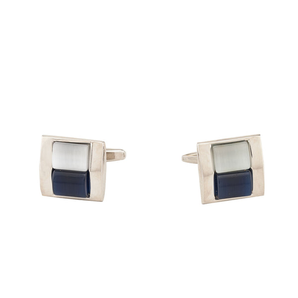 Cufflinks - Royal Blue & White Stone-Fashion-PropShop24.com