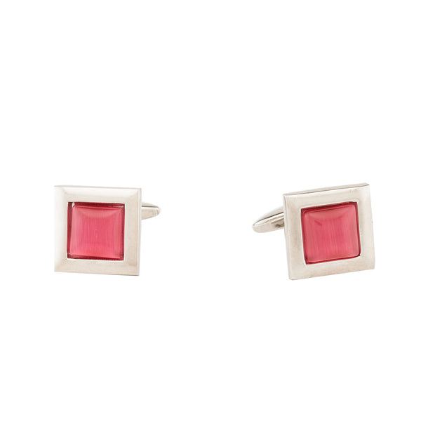 Cufflinks - Dark Pink Stone-Fashion-PropShop24.com