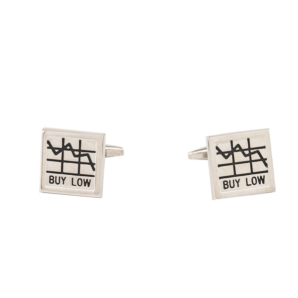 Cufflinks - Stock Market Graph Silver-Fashion-PropShop24.com