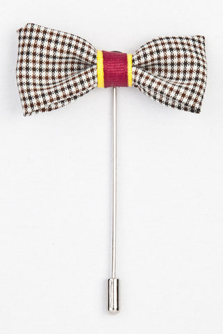LAPEL PIN - CHECKS BOW