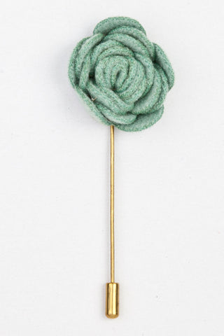 LAPEL PIN - GREEN WOVEN FLOWER