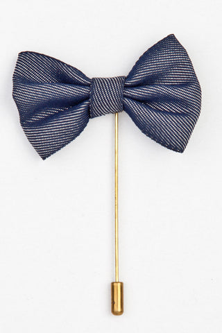 LAPEL PIN - NAVY BLUE BOW