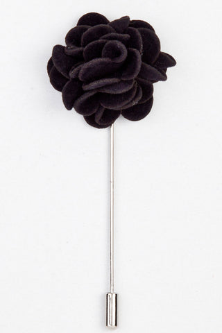 LAPEL PIN - BLACK ROSE