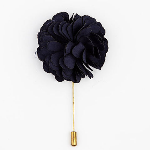 LAPEL PIN - NAVY BLUE FLOWER