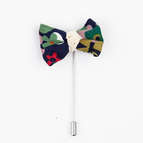 LAPEL PIN - MULTICOLOR BOW