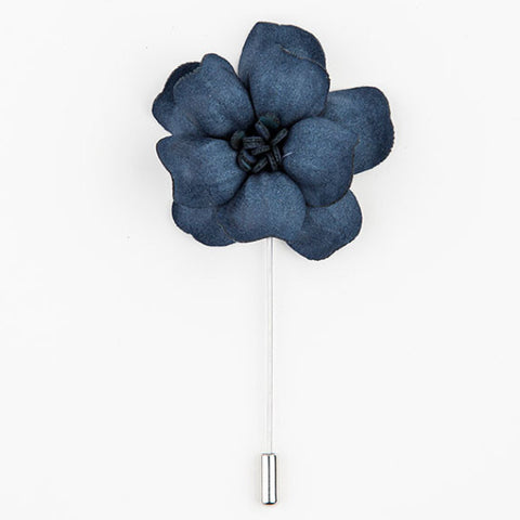 LAPEL PIN - GREY FLOWER