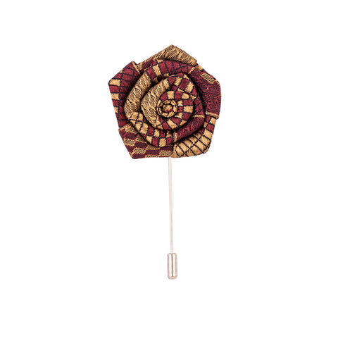 Lapel Pin - Maroon And Brown Rose-Fashion-PropShop24.com