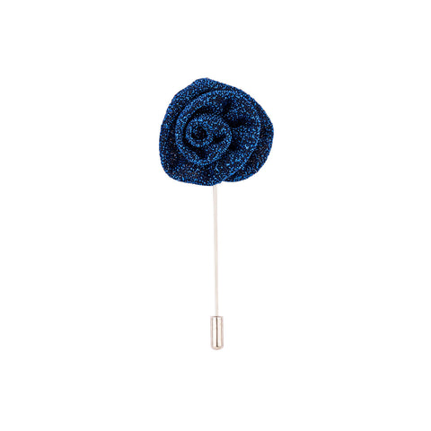 Lapel Pin - Metallic Royal Blue Flower-Fashion-PropShop24.com