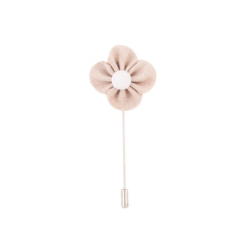 Lapel Pin - Cream Buttercup Flower-Fashion-PropShop24.com