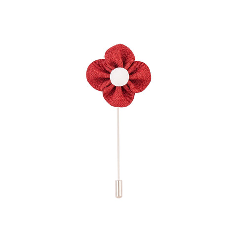 Lapel Pin - Red Buttercup Flower-Fashion-PropShop24.com