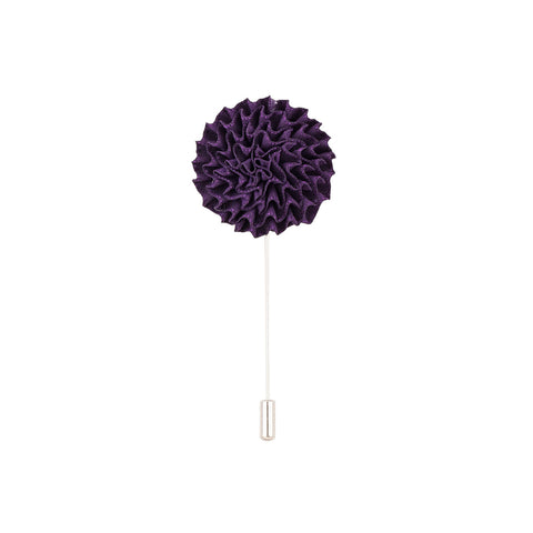 Lapel Pin - Purple Marigold Flower-Fashion-PropShop24.com